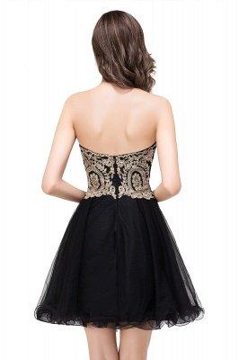 Gabriela | A Line Lace Appliques Sweetheart Short Prom Dresses_9