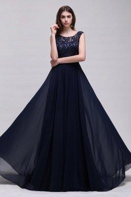 Cheap Sleeveless Lace Long Chiffon Prom Dress Online in Stock_4
