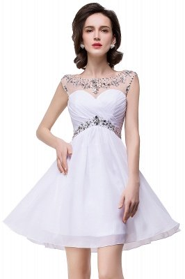 Cheap A-line Jewel Chiffon Party Dress With Crystal in Stock_9