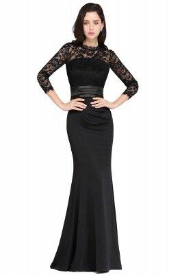 ARIANNA | Sheath High Neck Black Elegant Evening Dresses with Lace_5