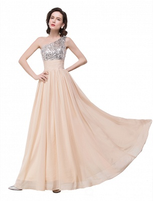 Cheap A-line Floor-length Chiffon Evening Dress with Sequined in Stock_8