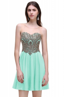 Cheap Black Short A-line Homecoming Dress in Stock_3