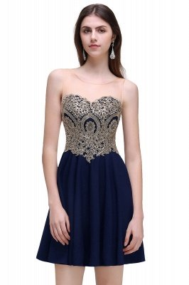 Cheap Black Short A-line Homecoming Dress in Stock_1