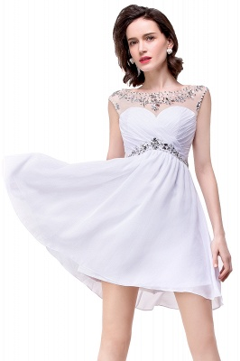 Cheap A-line Jewel Chiffon Party Dress With Crystal in Stock_10