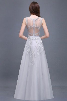 ADDILYN | A-line Floor-length Tulle Prom Dress with Appliques_14