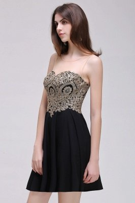 Cheap Black Short A-line Homecoming Dress in Stock_9