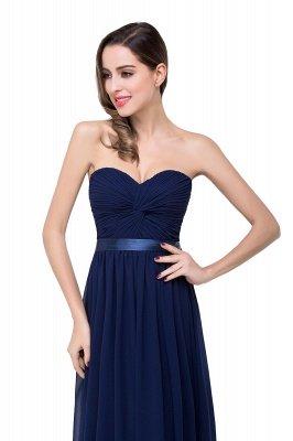 A-line Strapless Chiffon Bridesmaid Dress with Draped_5