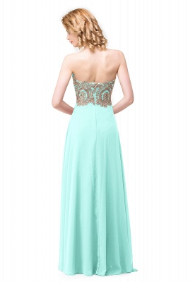 Cheap Women's Strapless Embroidery Beaded Prom Formal Dress in Stock_5