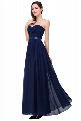 ADELINA | Simple A-line Strapless Chiffon Bridesmaid Dress with Draped_8