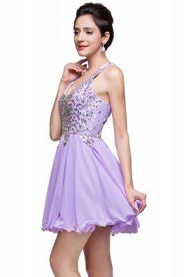 Cheap Chic Crisscross-straps Crystal Beads Ruffle Chiffon Sweetheart Short Prom Dress in Stock_13