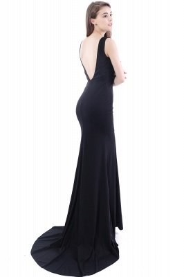 DALARY | Mermaid Jewel Court-Train Embroidery Black Prom Dresses with Pearls_8
