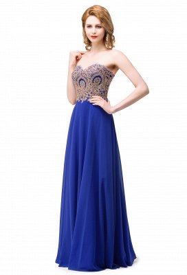 Cheap Women's Strapless Embroidery Beaded Prom Formal Dress in Stock_1