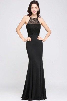 CHERISH | Mermaid Halter Floor-length Chiffon Black Prom Dress_2