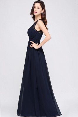 CHELSEA | Cheap Long Lace Prom Dress | Afforable Chiffon Lace Evening Dress_14