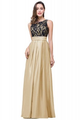 Cheap Simple A-line Crew Chiffon Open Back Lace Bridesmaid Dress in Stock_1