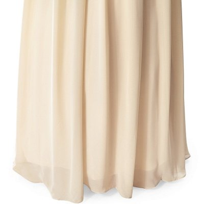 A-line V-neck Chiffon Party Dress With Sequined_10
