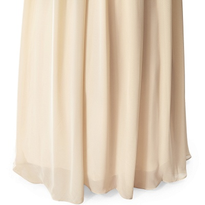 Cheap A-line V-neck Chiffon Party Dress With Sequined in Stock_10