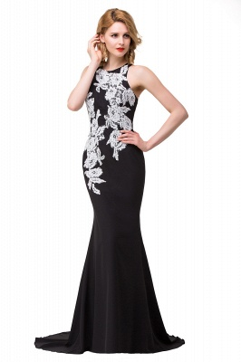Cheap Mermaid Evening With Appliques For Women Formal Long Prom Dress in Stock_9