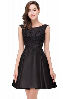 Cheap Short A Line Applique Tutu Prom Party Dress in Stock_5