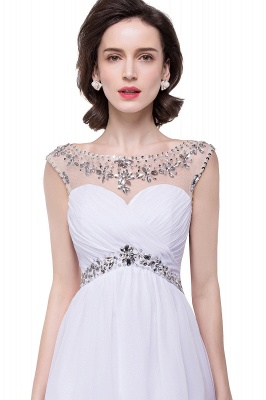 Cheap A-line Jewel Chiffon Party Dress With Crystal in Stock_1