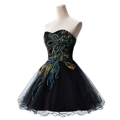 AISHA | A-line Strapless Tulle Prom Dress With  Embroidery_2