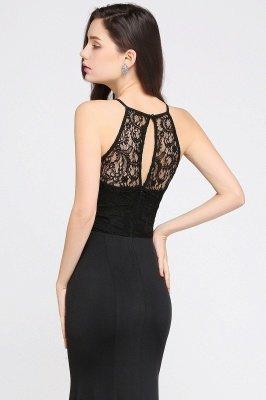 CHERISH | Mermaid Halter Floor-length Chiffon Black Prom Dress_7