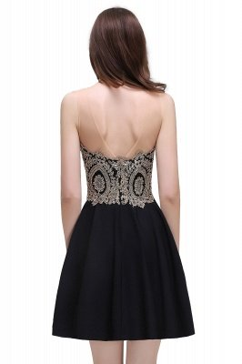 Cheap Black Short A-line Homecoming Dress in Stock_5