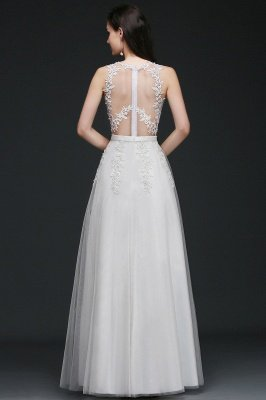 AMARI   A-Line Jewel Floor Length Tulle Wedding Dresses with Lace_4