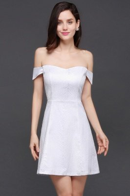 Special In-Stock Occasion New Off-Shoulder Women Short A-Line Evening Dresses_1