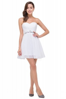 A-line Sweetheart Short Prom Dresses with Beadings_1