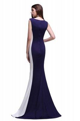 Mermaid Long Dark Navy Simple Prom Gowns_3