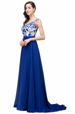 EMILIE | A-Line Floor-Length Sleeveless Chiffon Prom Dresses with Lace-Appliques_5