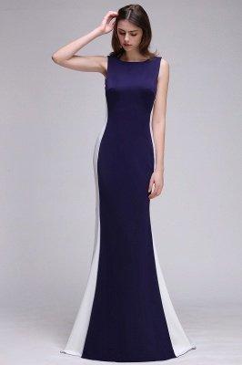 Mermaid Long Dark Navy Simple Prom Gowns_4