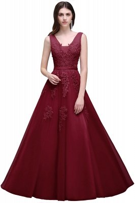 ADDYSON   A-line Floor-length Tulle Bridesmaid Dress with Appliques_6