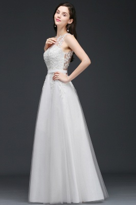 AMARI   A-Line Jewel Floor Length Tulle Wedding Dresses with Lace_7