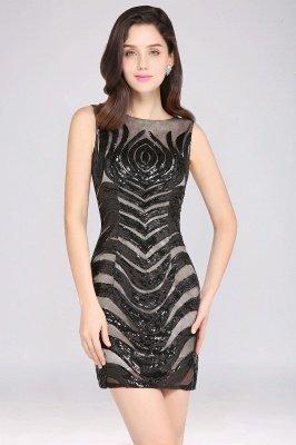 AMALIA | Sheath Short Black Sexy Cocktail Dresses_7