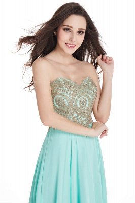 Cheap Women's Strapless Embroidery Beaded Prom Formal Dress in Stock_9