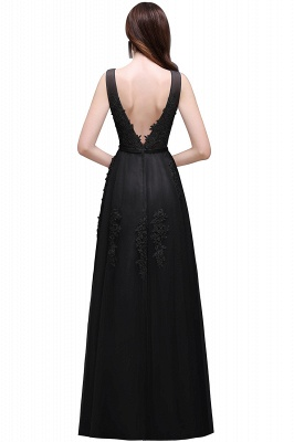 ADDYSON   A-line Floor-length Tulle Bridesmaid Dress with Appliques_8