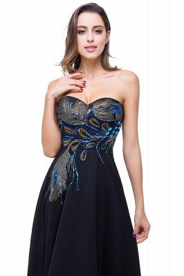 A-line Sweetheart Black Cheap Evening Dress with Embroidery_6