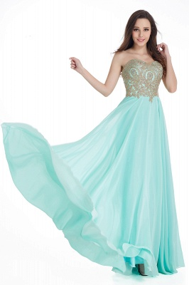 Cheap Women's Strapless Embroidery Beaded Prom Formal Dress in Stock_8
