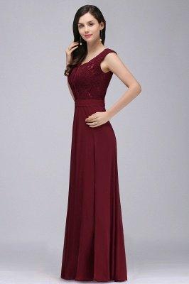 Elegant Lace A-line Long Burgundy Prom Dress_9