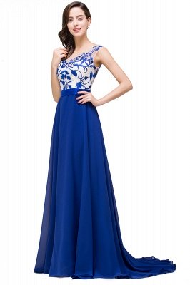 EMILIE | A-Line Floor-Length Sleeveless Chiffon Prom Dresses with Lace-Appliques_7