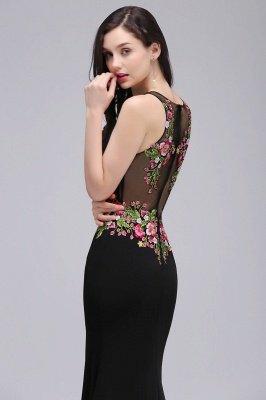 ELAINE | Mermaid Floor-length Sleeveless Prom Dresses with Embroidery-flowers_7