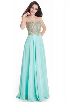 Cheap Women's Strapless Embroidery Beaded Prom Formal Dress in Stock_6