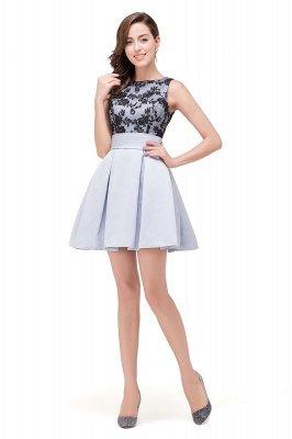 FELICITY | A-Line Crew Sleeveless Short Appliques Prom Dresses