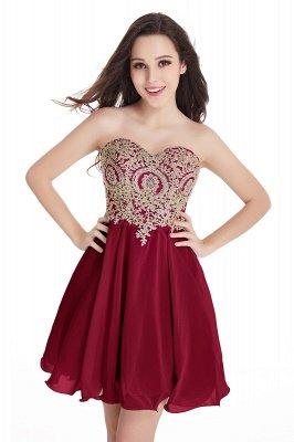 Sweetheart Mini Cheap Appliques Short 2019 Homecoming Dresses_2