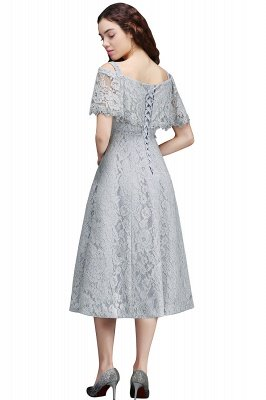 ALEXIS | Cheap Off Shoulder Tea-Length A Line Lace Homecoming Dresses With Sash_3