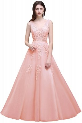 ADDYSON   A-line Floor-length Tulle Bridesmaid Dress with Appliques_3