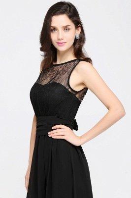 CHARLOTTE  Floor-length Black Chiffon Sexy Prom Dresses | Black Evening Dresses_14