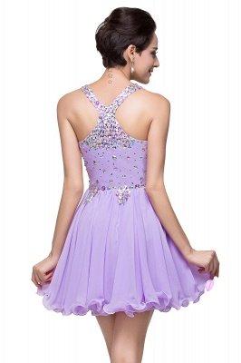 Cheap Chic Crisscross-straps Crystal Beads Ruffle Chiffon Sweetheart Short Prom Dress in Stock_9